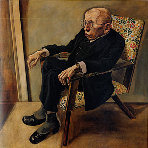 "George Grosz ""Portrait of the Writer Max Hermann-Neisse"" 1925, Oil on Canvas"