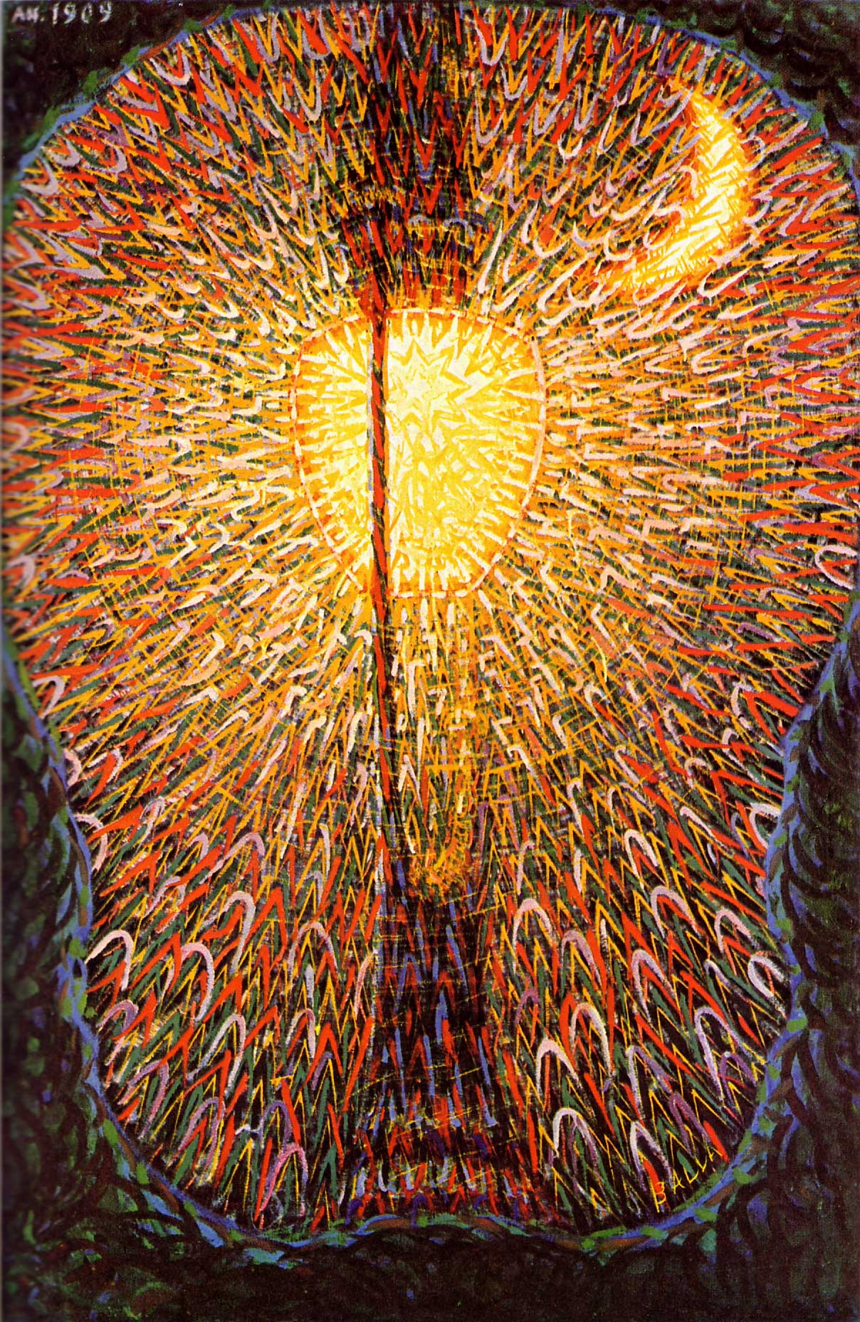 "Giacomo Balla ""Street Light""  1911, Oil on Canvas"