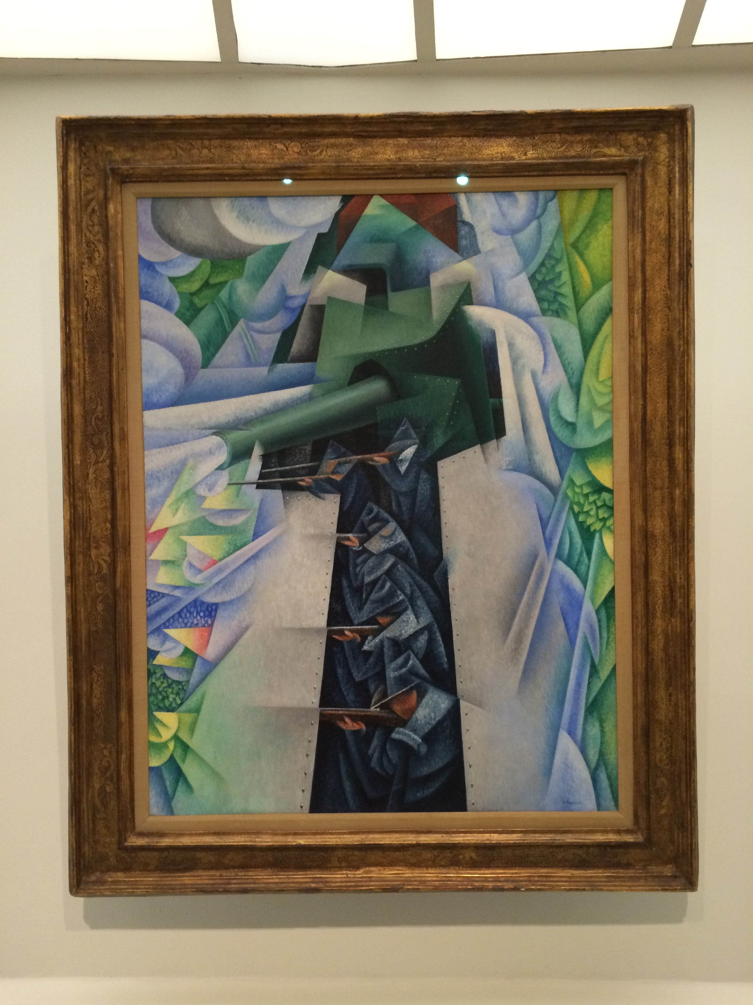 Gino Severini, Armored Train in Action, 1915, Oil on Canvas