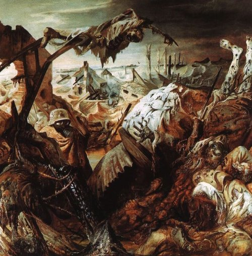 "Otto Dix  ""The Trench"" 1923, Oil on Canvas"