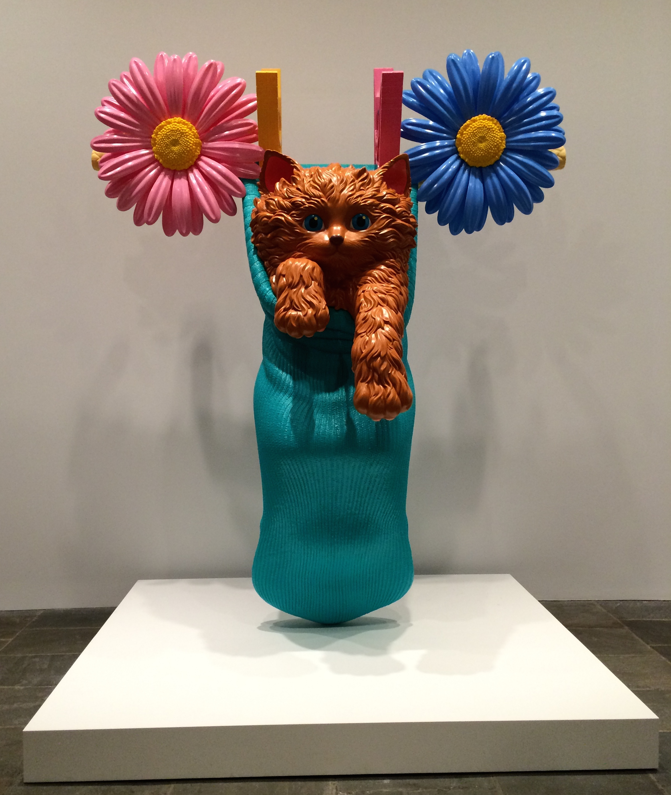 Jeff Koons Cat on a Clothesline (Aqua), 1994-2001 Polyethylene