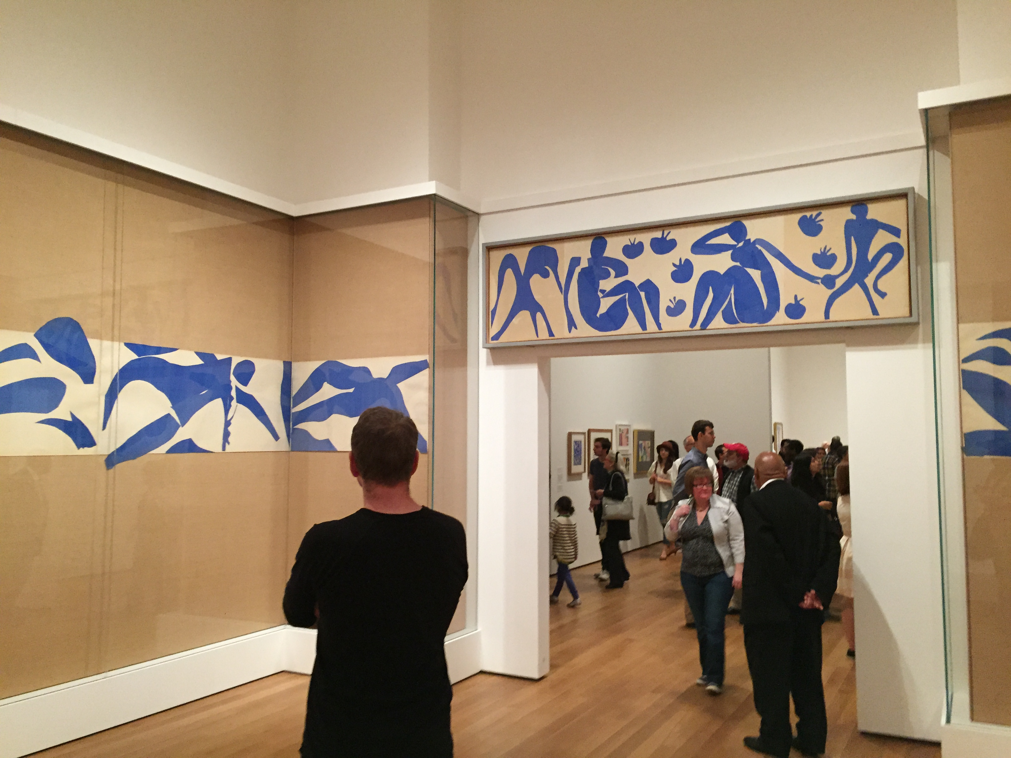 Henri Matisse The Swimming Pool (La Piscine) late summer 1952 (realized as ceramic 1999 and 2005) Gouache on paper, cut and pasted, on painted paper (Partial installation view)