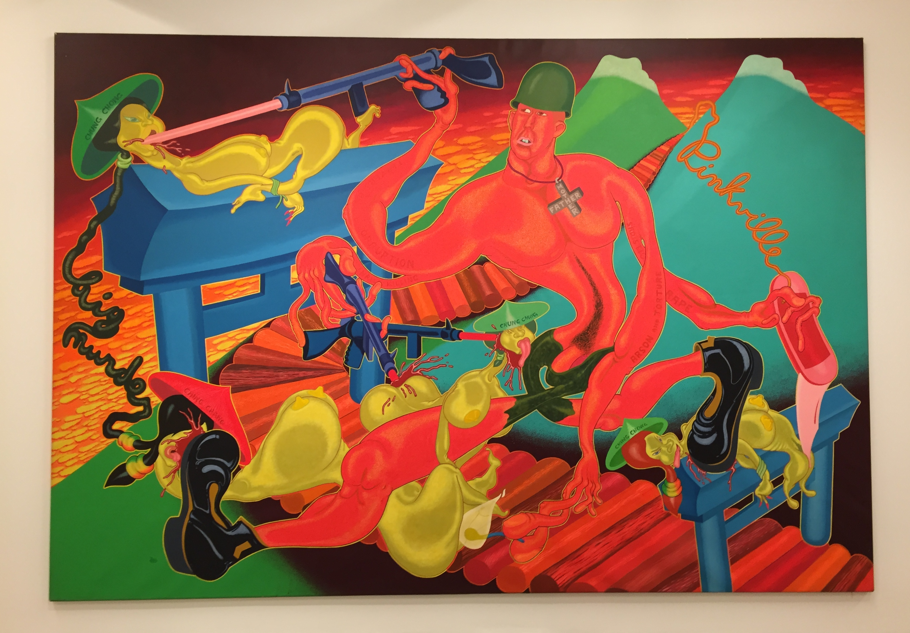 Peter Saul Pinkville, 1970 Acrylic on Canvas 90 x 131 inches
