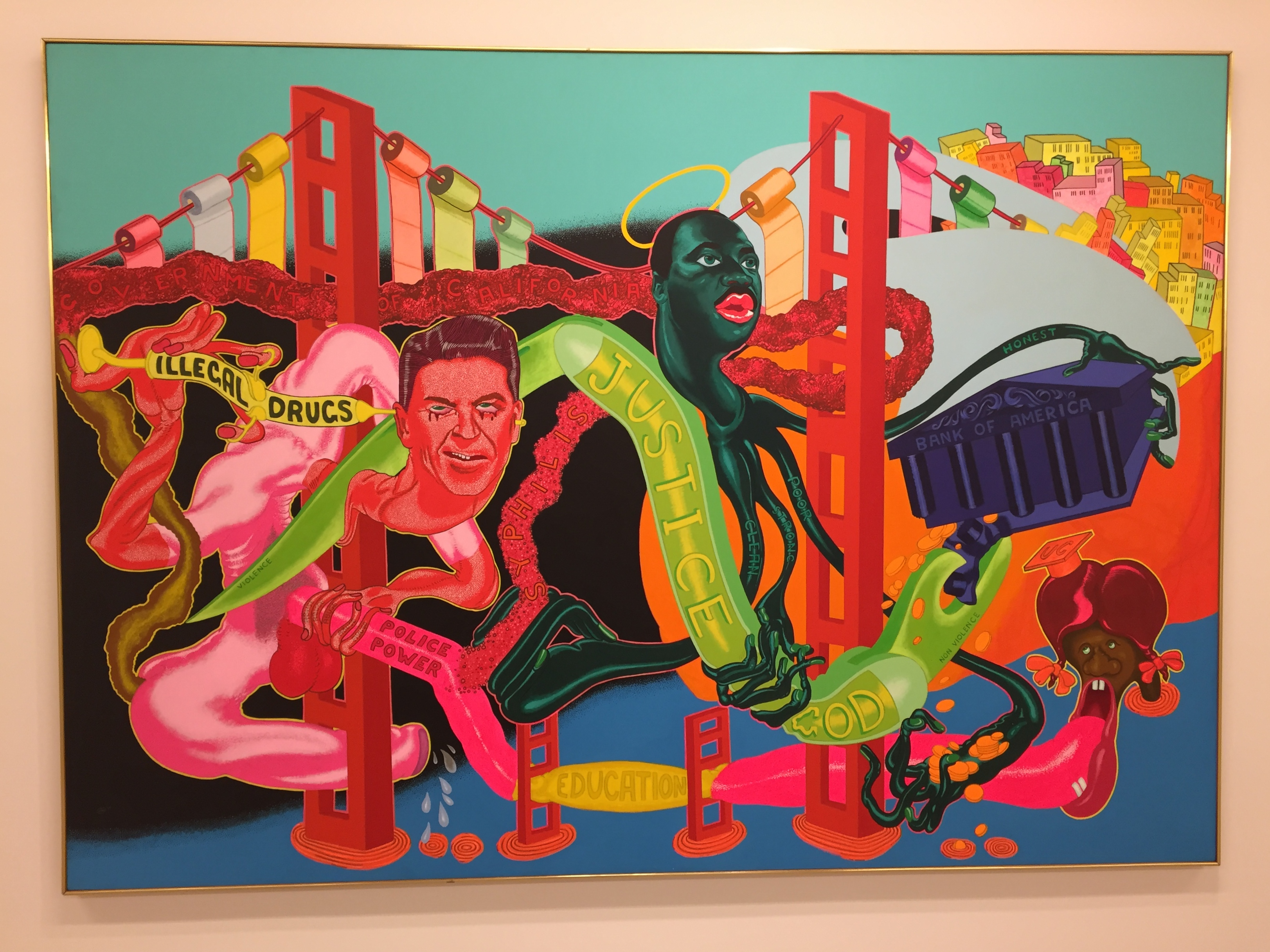 Peter Saul The Government of California, 1969 Acrylic on Canvas 68 x 96 inches